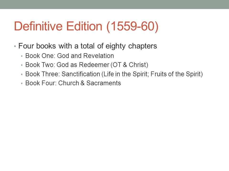 Definitive Edition (1559-60)
