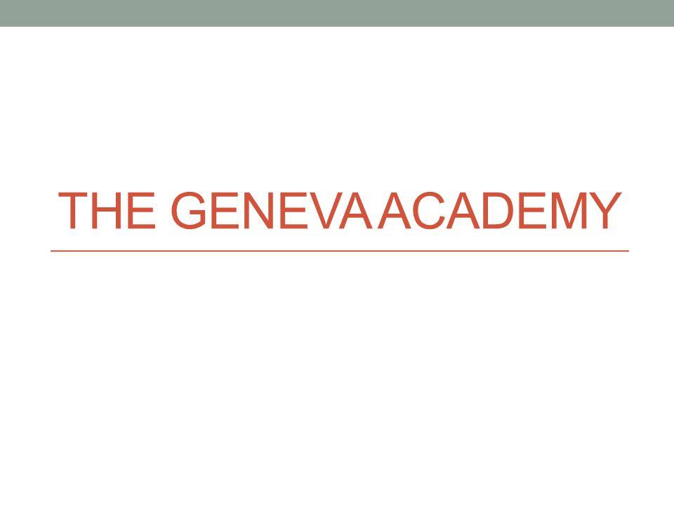 The Geneva Academy