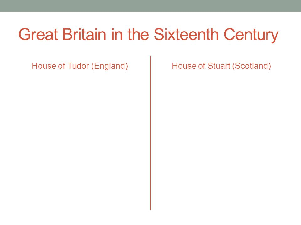 Great Britain in the Sixteenth Century