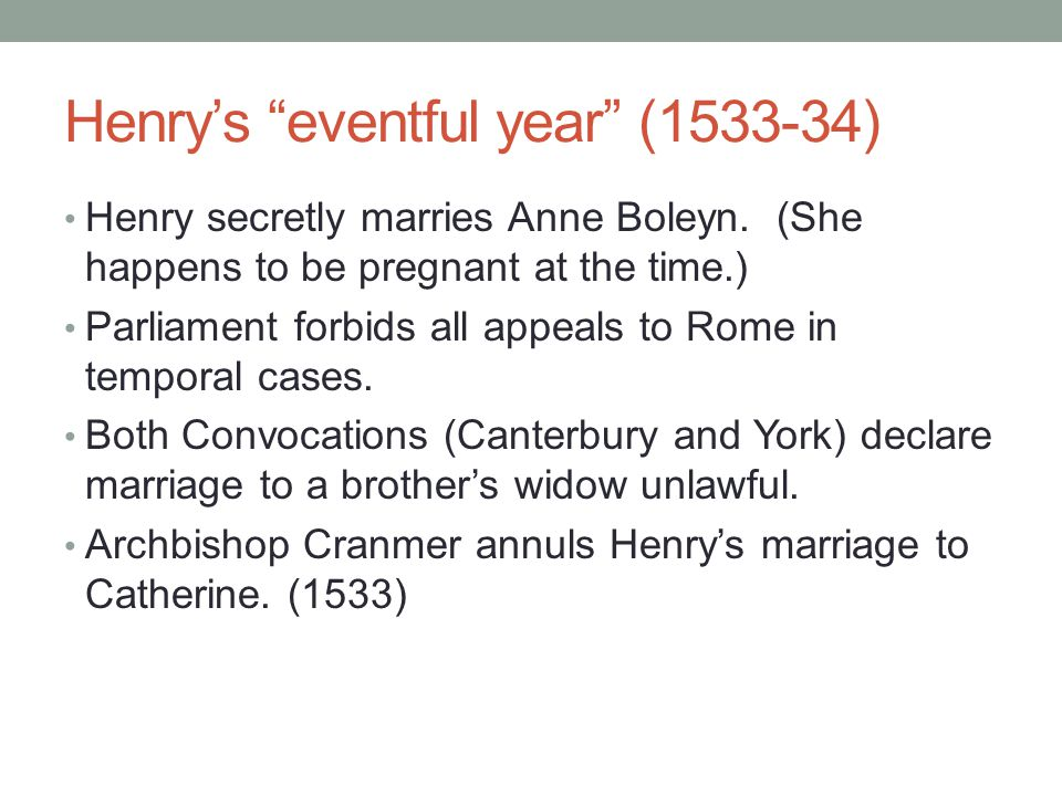 Henry's eventful year (1533-34)