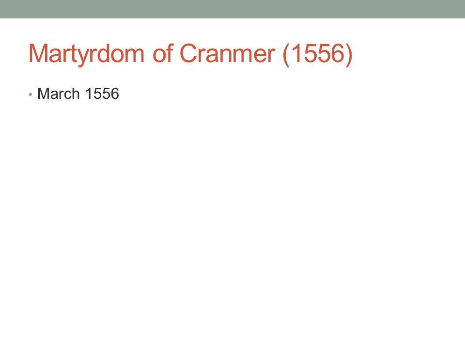 Martyrdom of Cranmer (1556)
