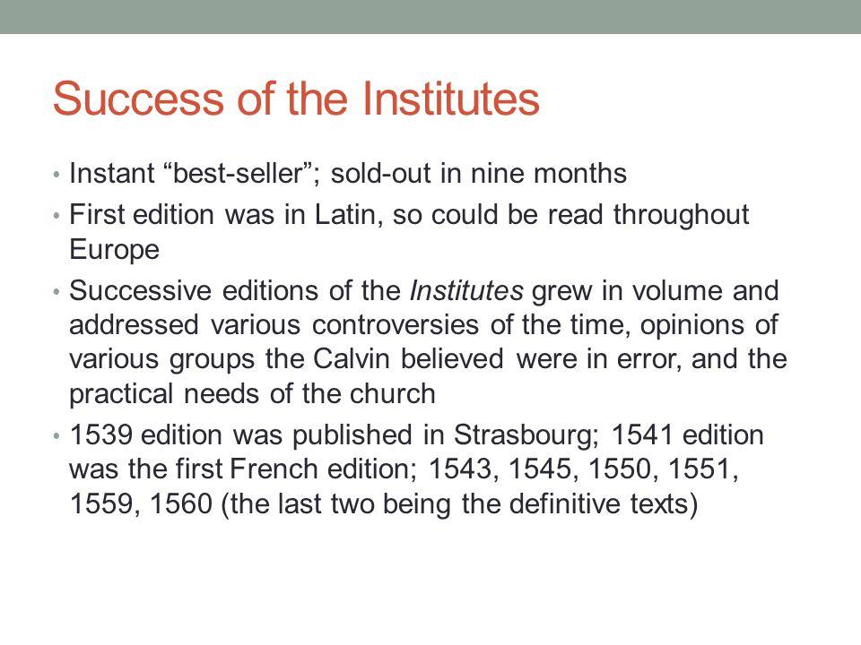 Success of the Institutes