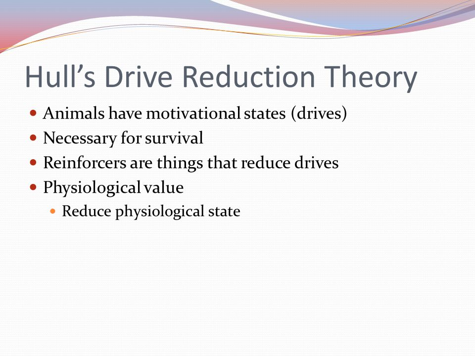 Hull's Drive Reduction Theory