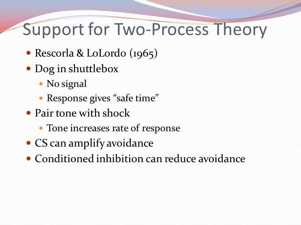 Support for Two-Process Theory