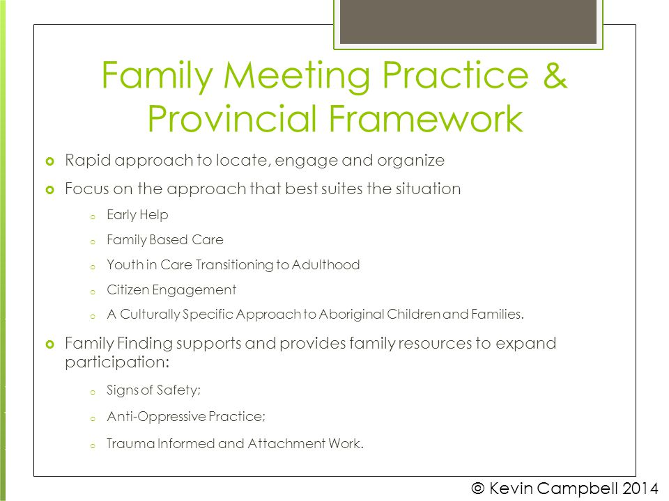 Family Meeting Practice &