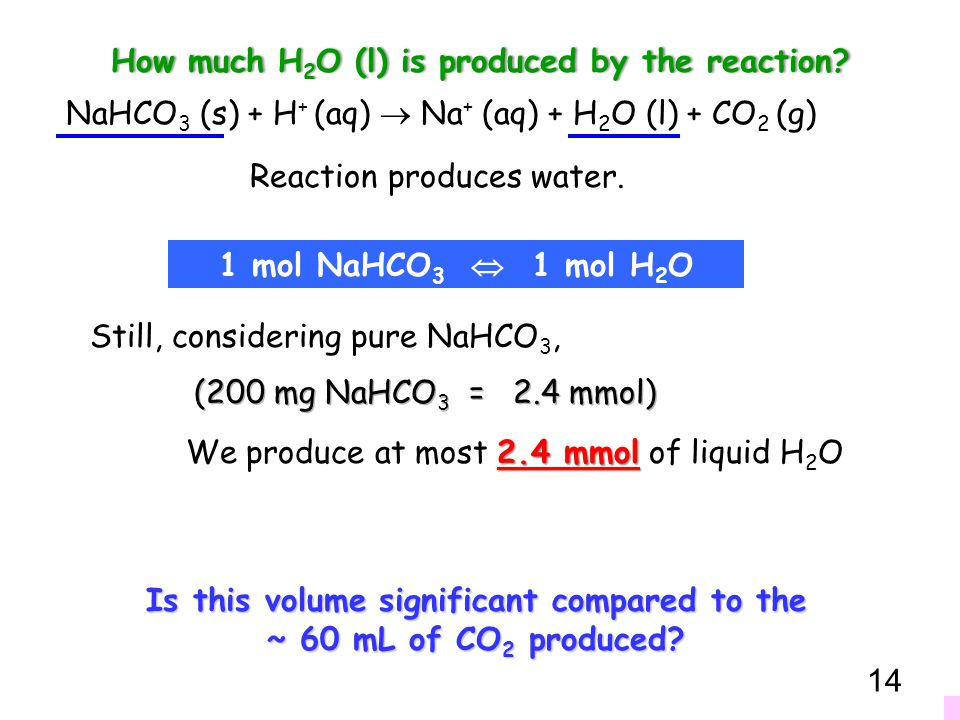 How much H2O (l) is produced by the reaction