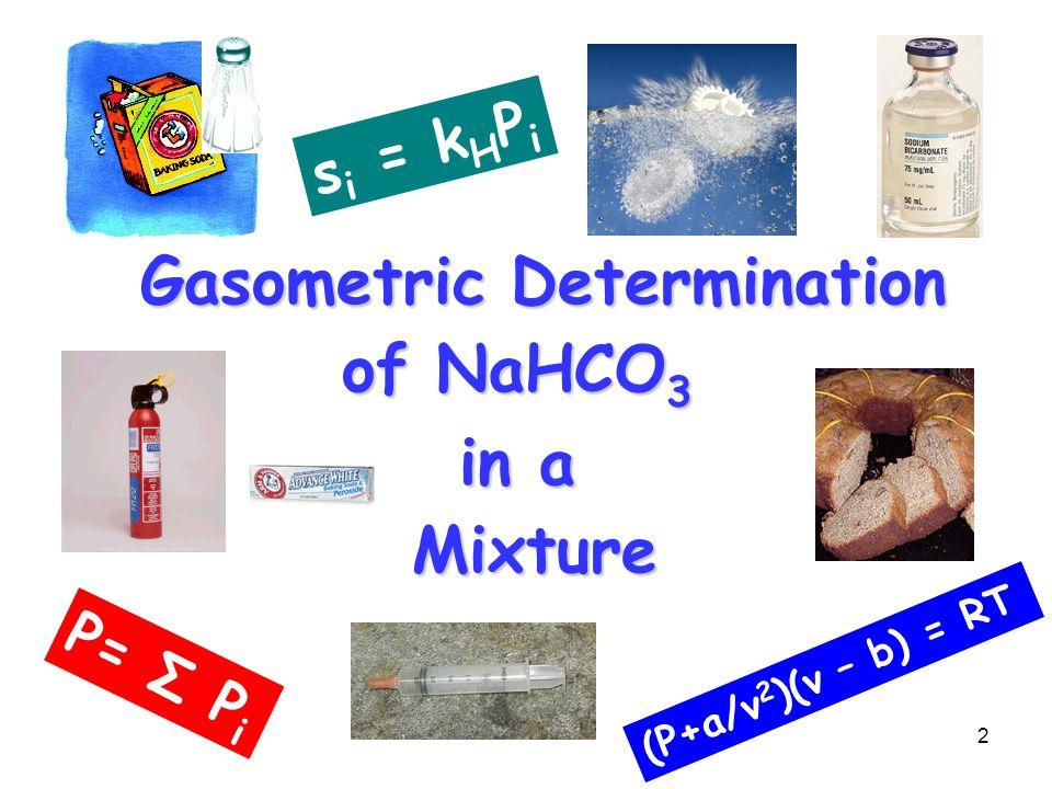 Gasometric Determination