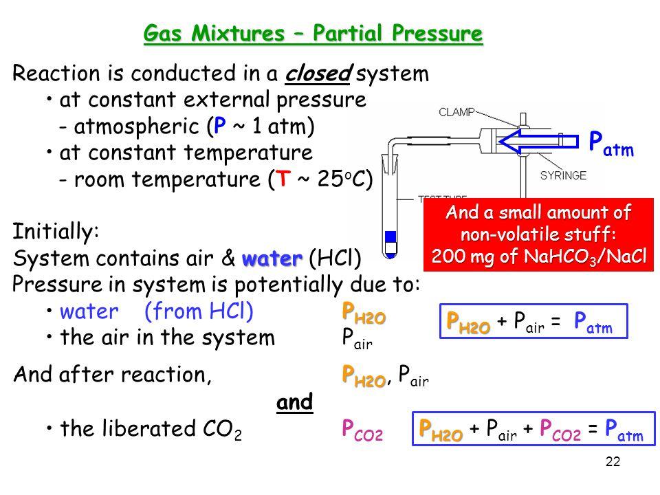 Gas Mixtures – Partial Pressure