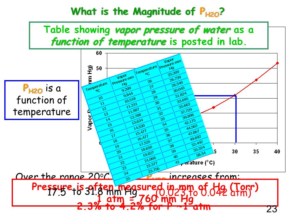 What is the Magnitude of PH2O