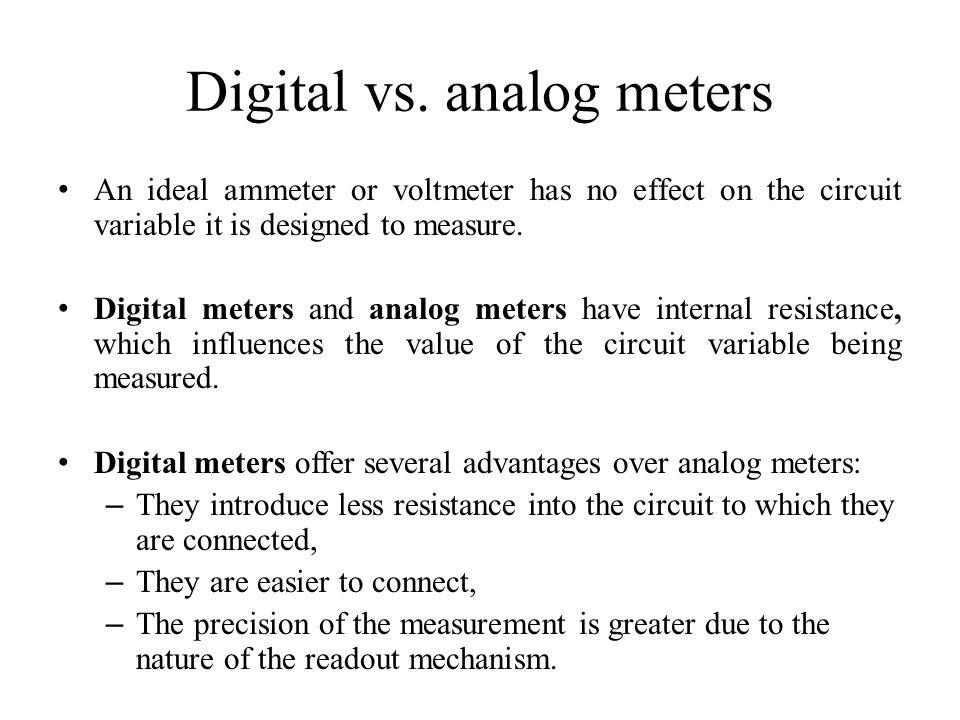 Digital vs. analog meters