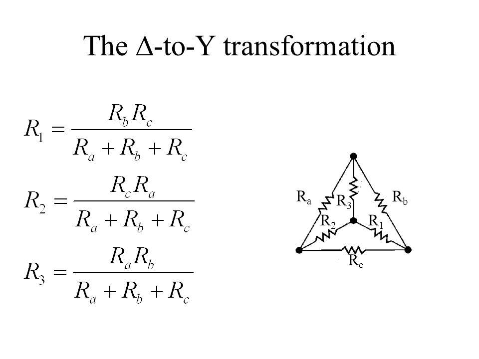 The ∆-to-Y transformation