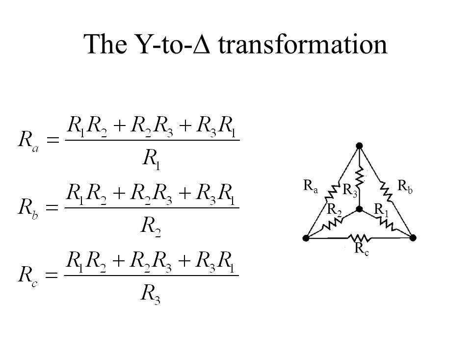 The Y-to-∆ transformation