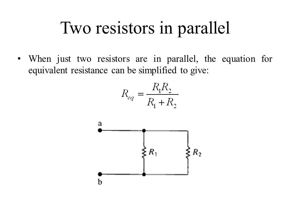 Two resistors in parallel