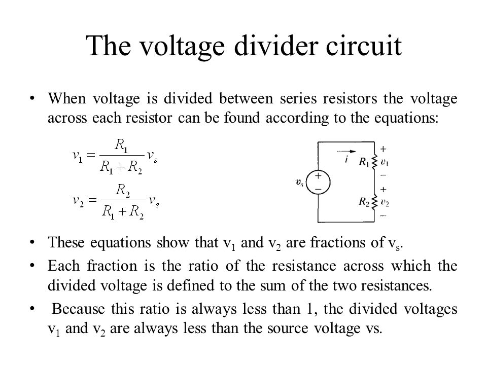 The voltage divider circuit