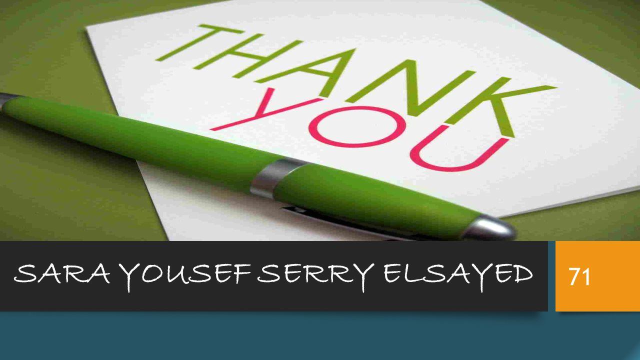 SARA YOUSEF SERRY ELSAYED