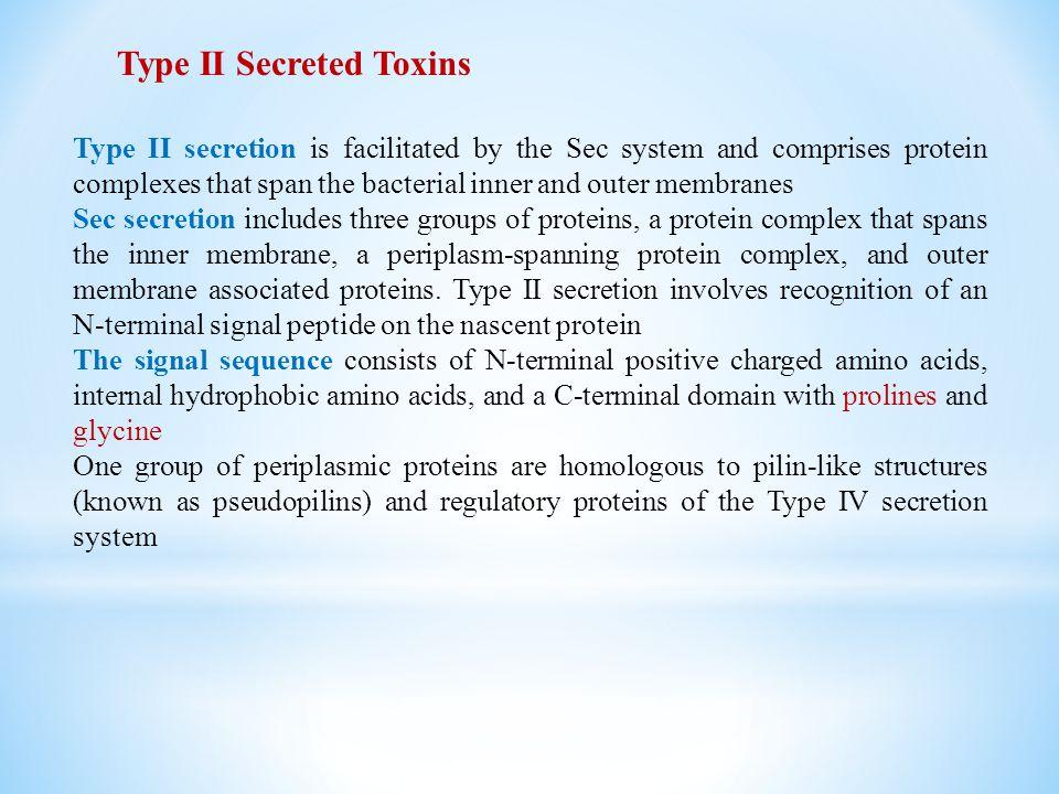 Type II Secreted Toxins