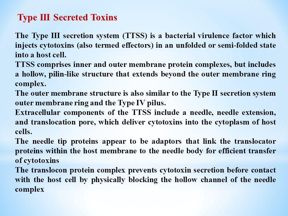 Type III Secreted Toxins