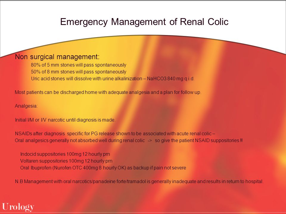 Emergency Management of Renal Colic