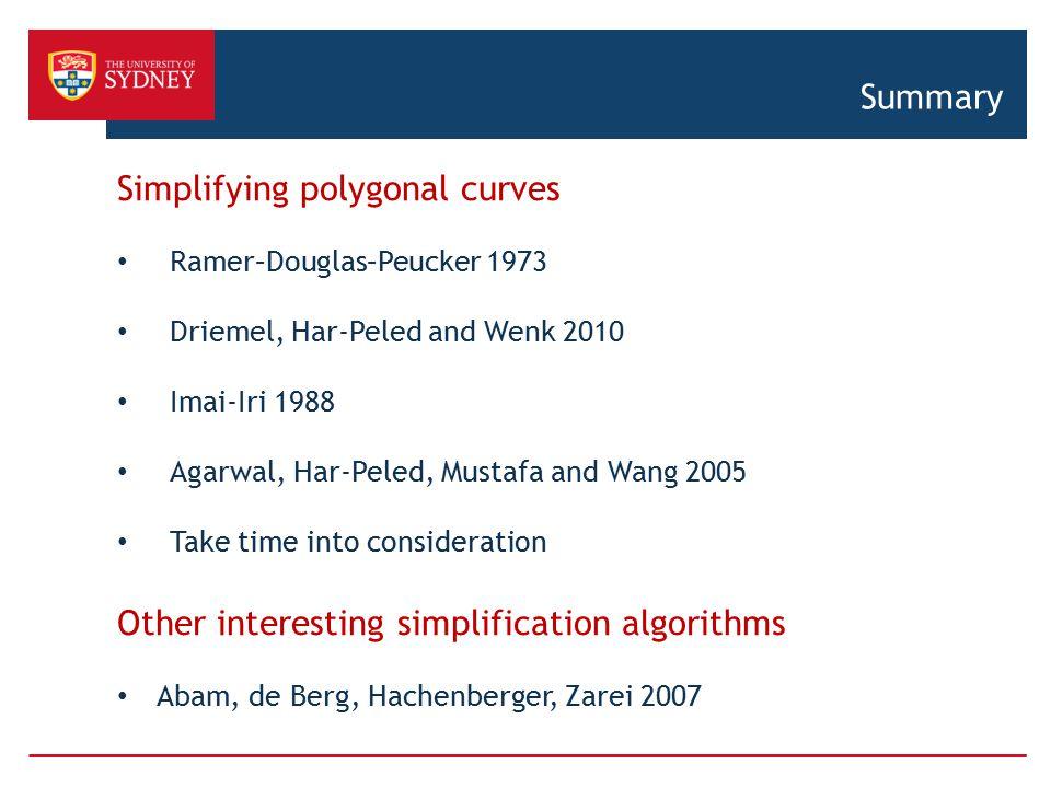 Simplifying polygonal curves