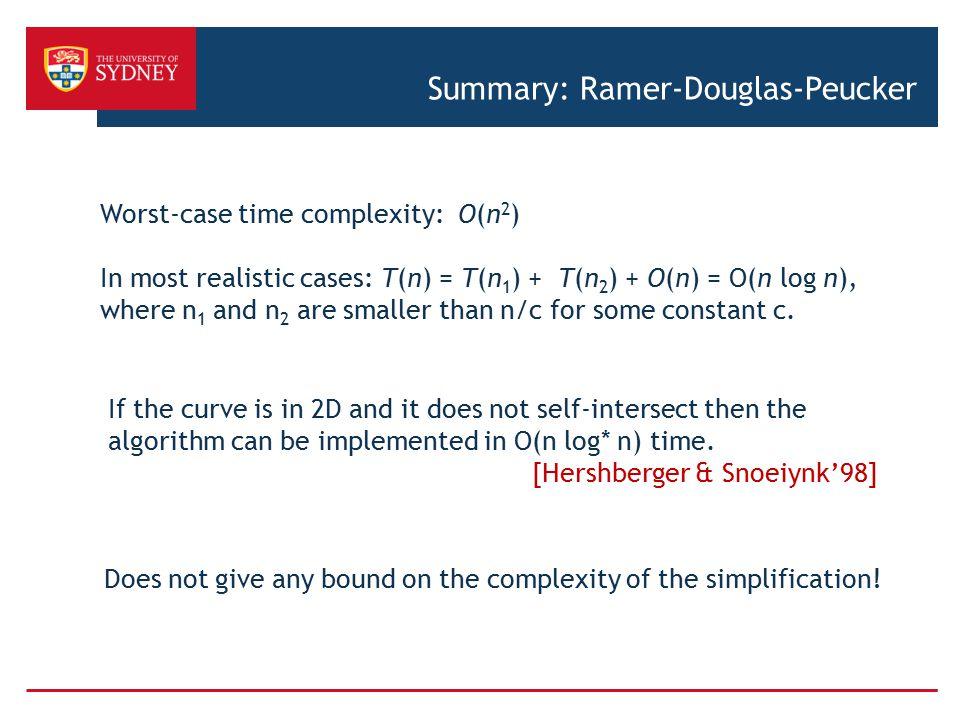 Summary: Ramer-Douglas-Peucker