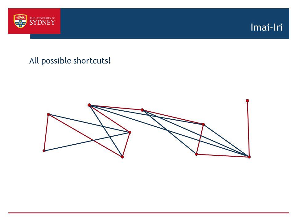 Imai-Iri All possible shortcuts!