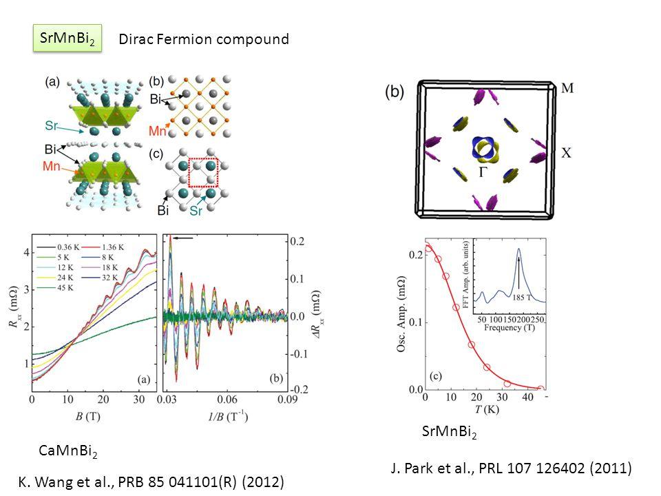 SrMnBi2 Dirac Fermion compound. SrMnBi2. CaMnBi2.