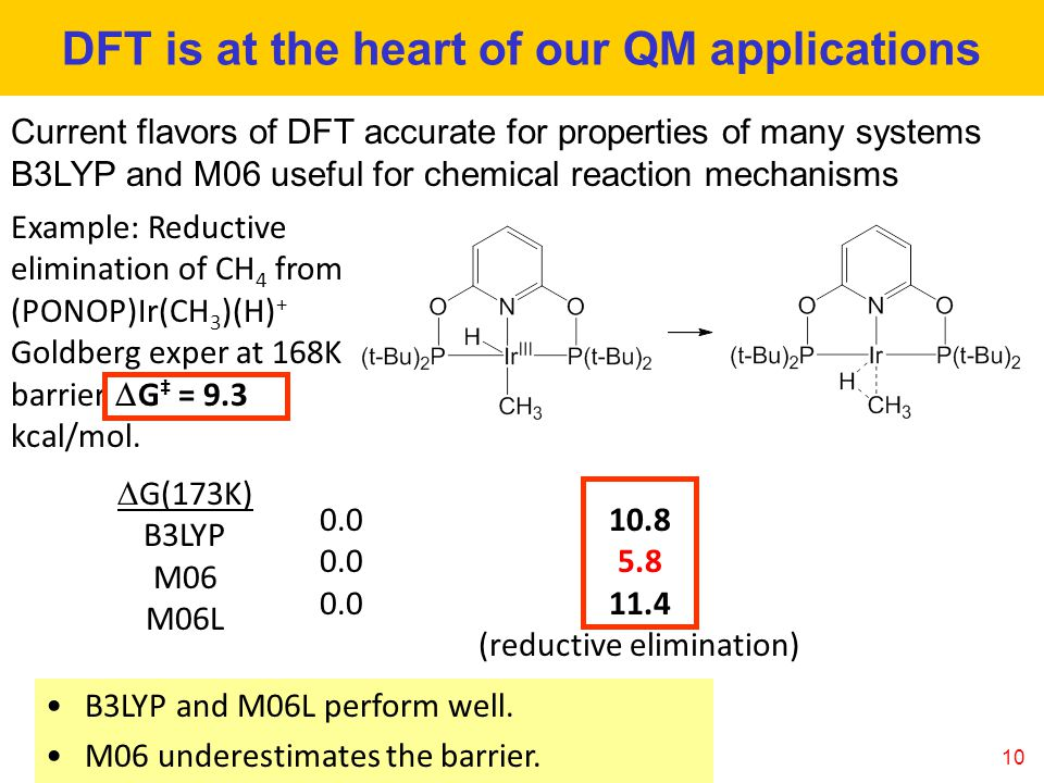 DFT is at the heart of our QM applications