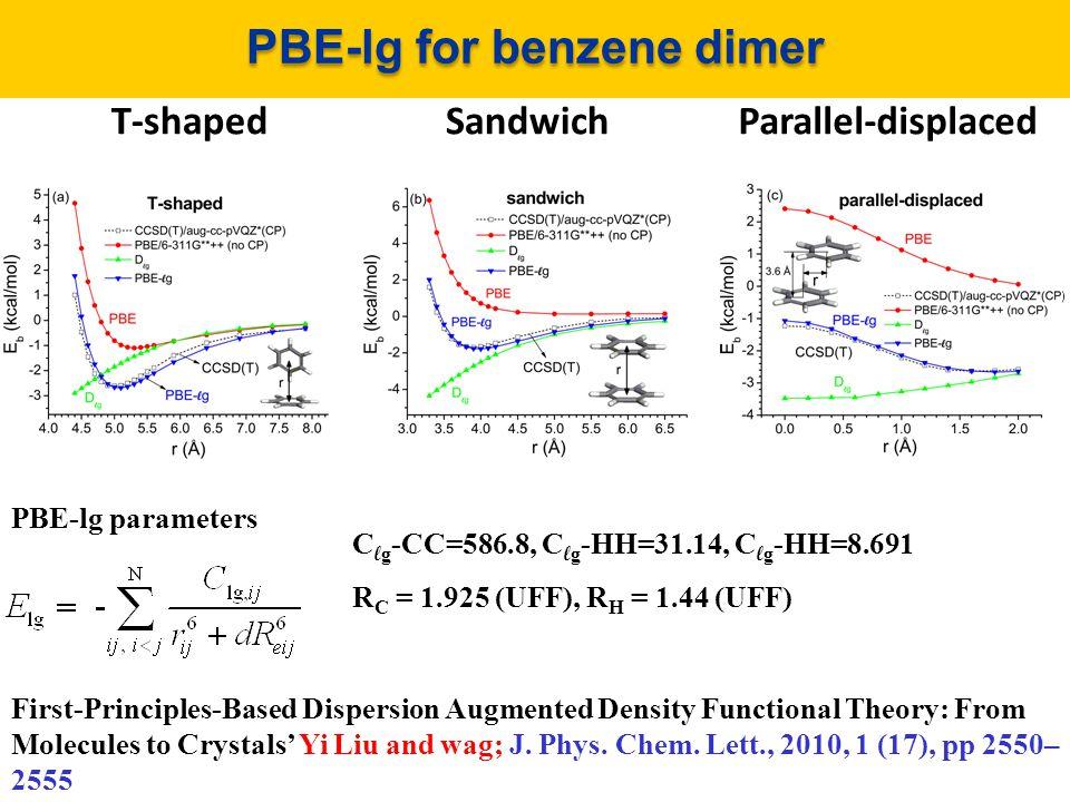 PBE-lg for benzene dimer