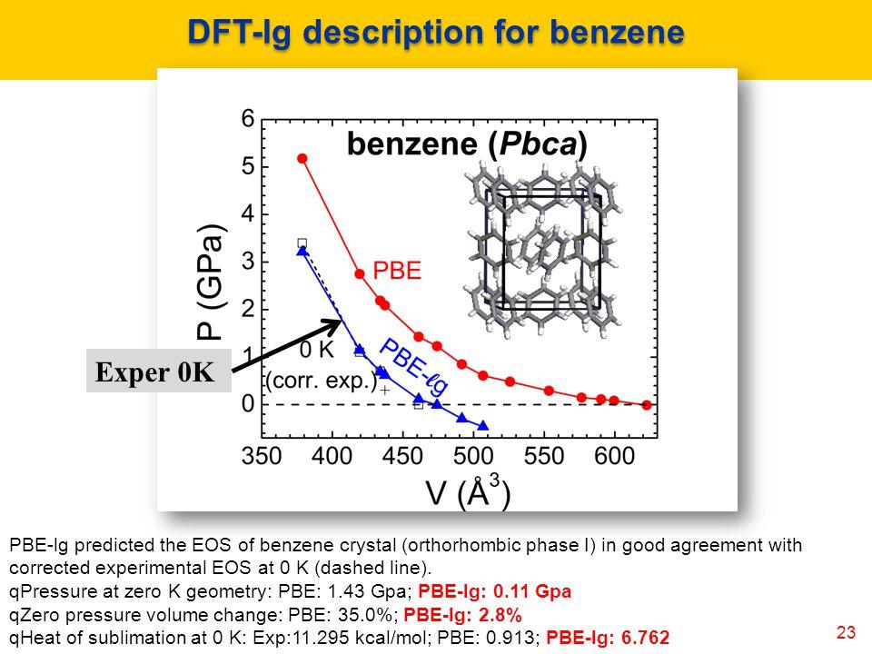 DFT-lg description for benzene