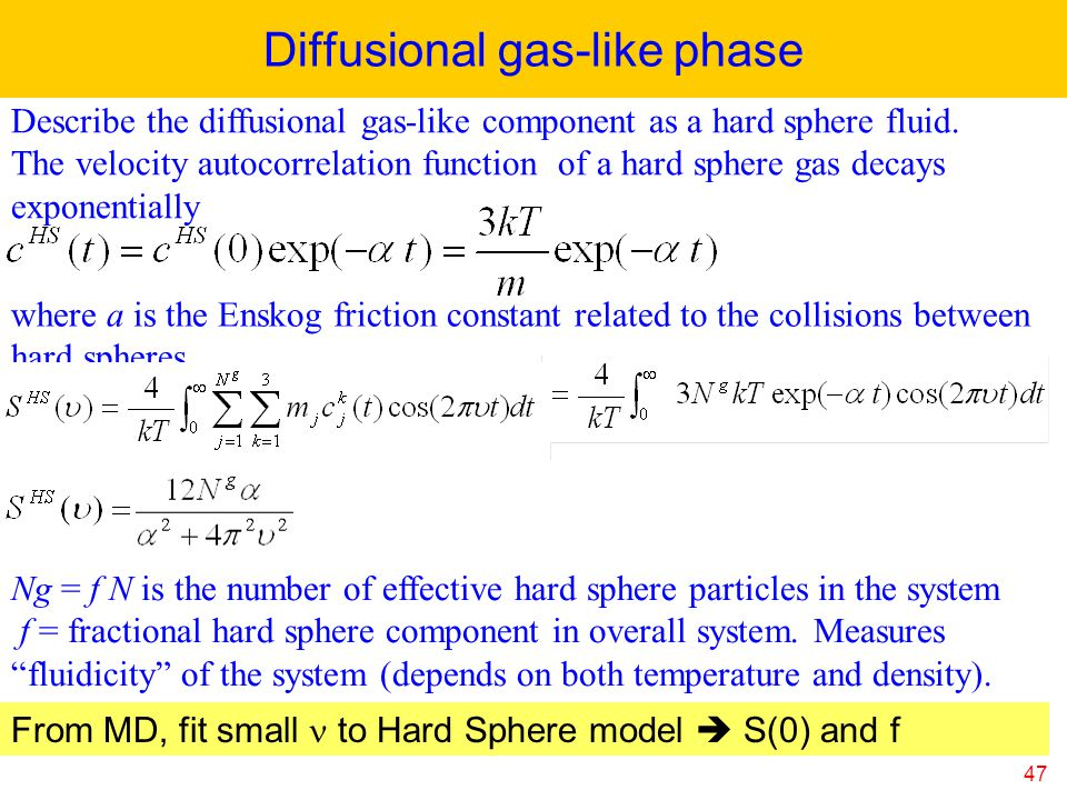Diffusional gas-like phase