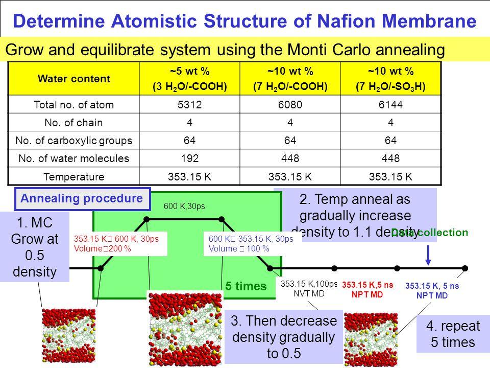 Determine Atomistic Structure of Nafion Membrane