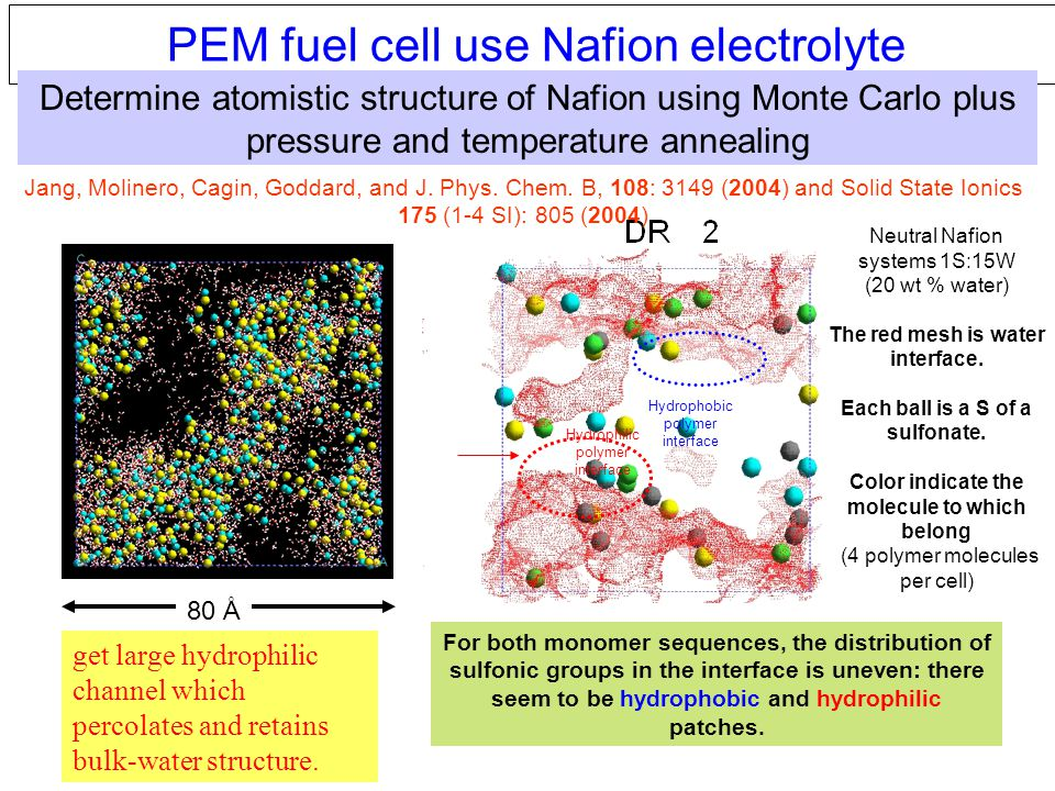 PEM fuel cell use Nafion electrolyte