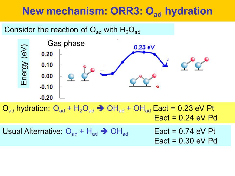 New mechanism: ORR3: Oad hydration