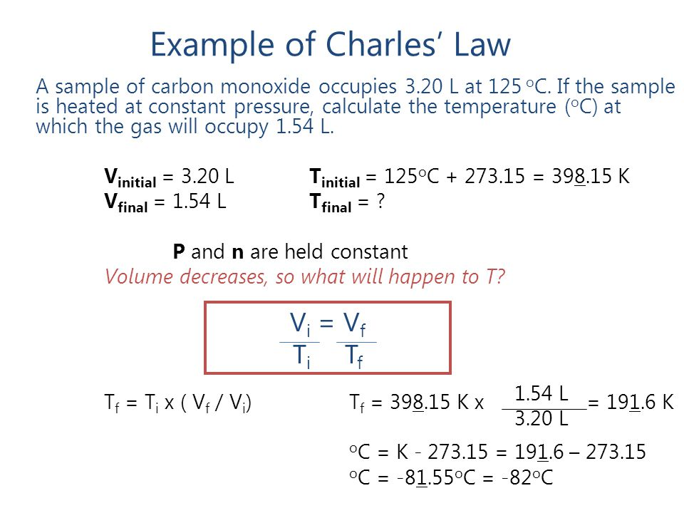 Example of Charles' Law