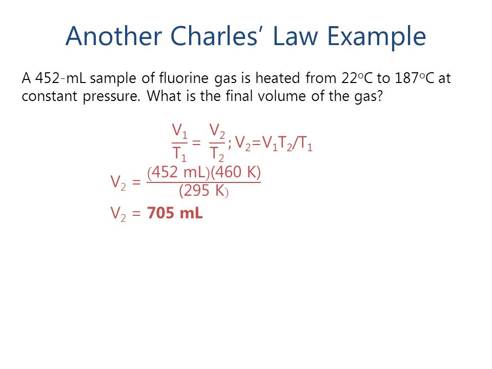 Another Charles' Law Example