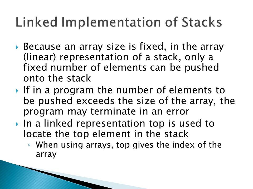Linked Implementation of Stacks