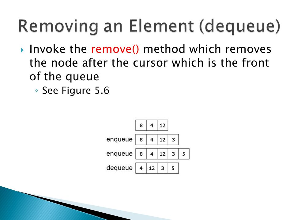 Removing an Element (dequeue)