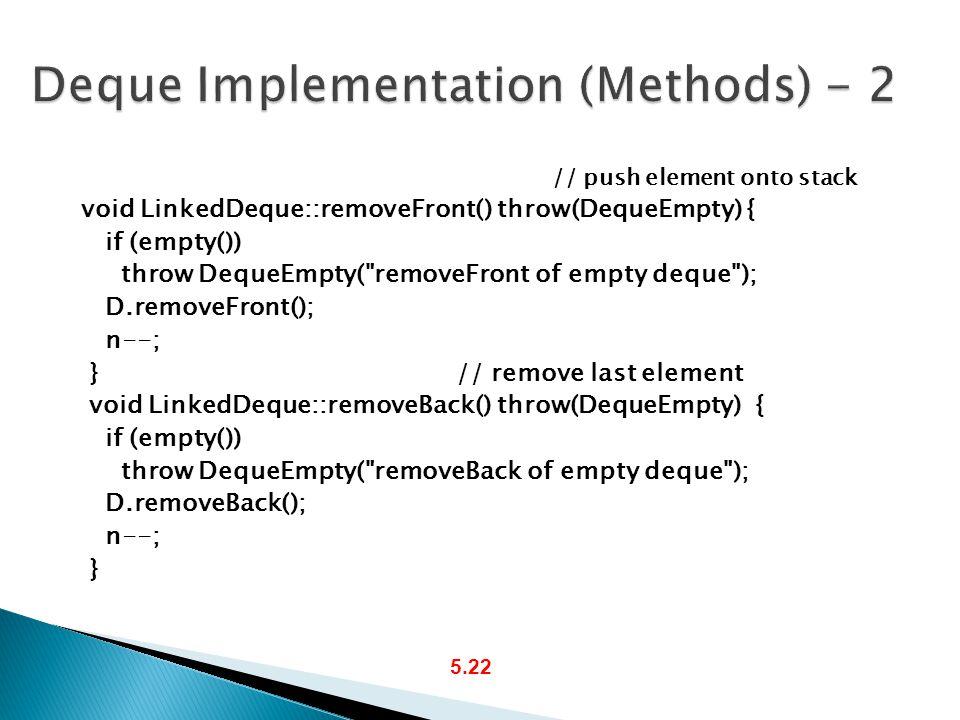 Deque Implementation (Methods) - 2