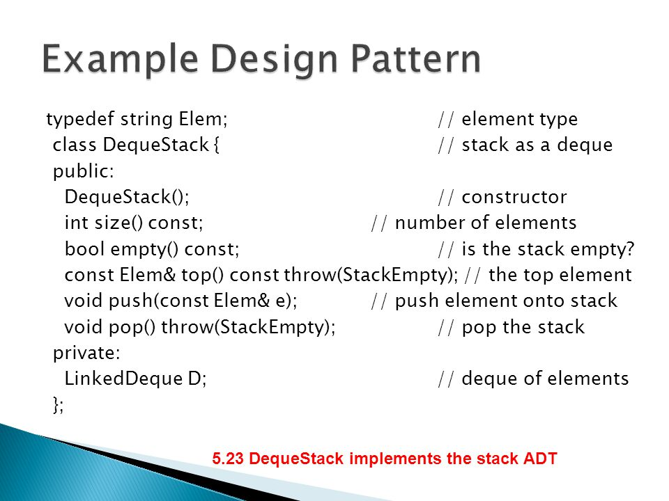 Example Design Pattern