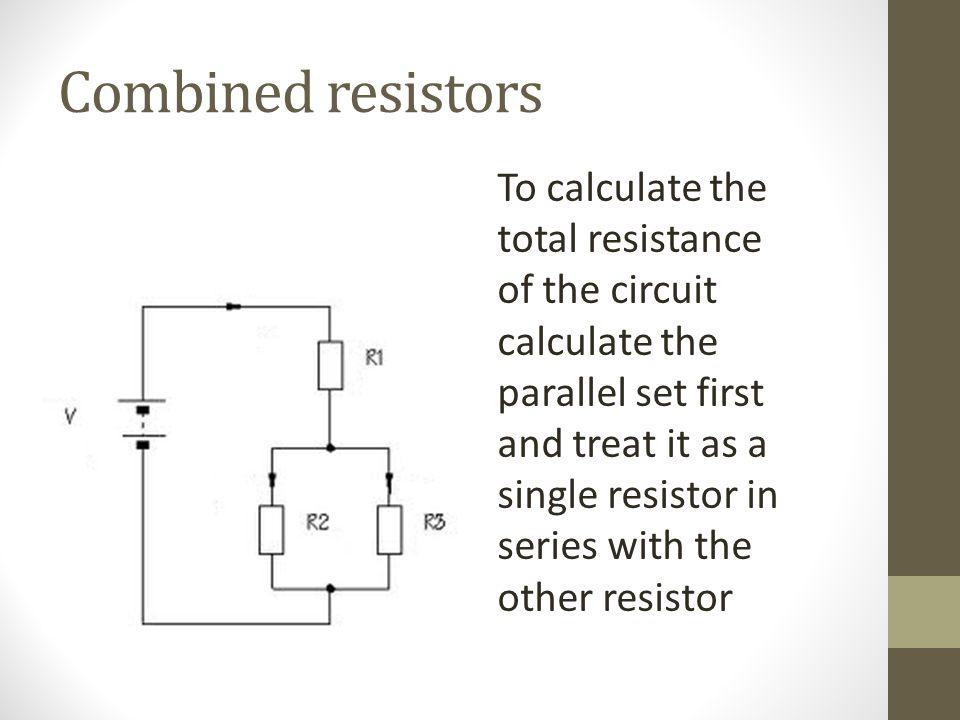 Combined resistors