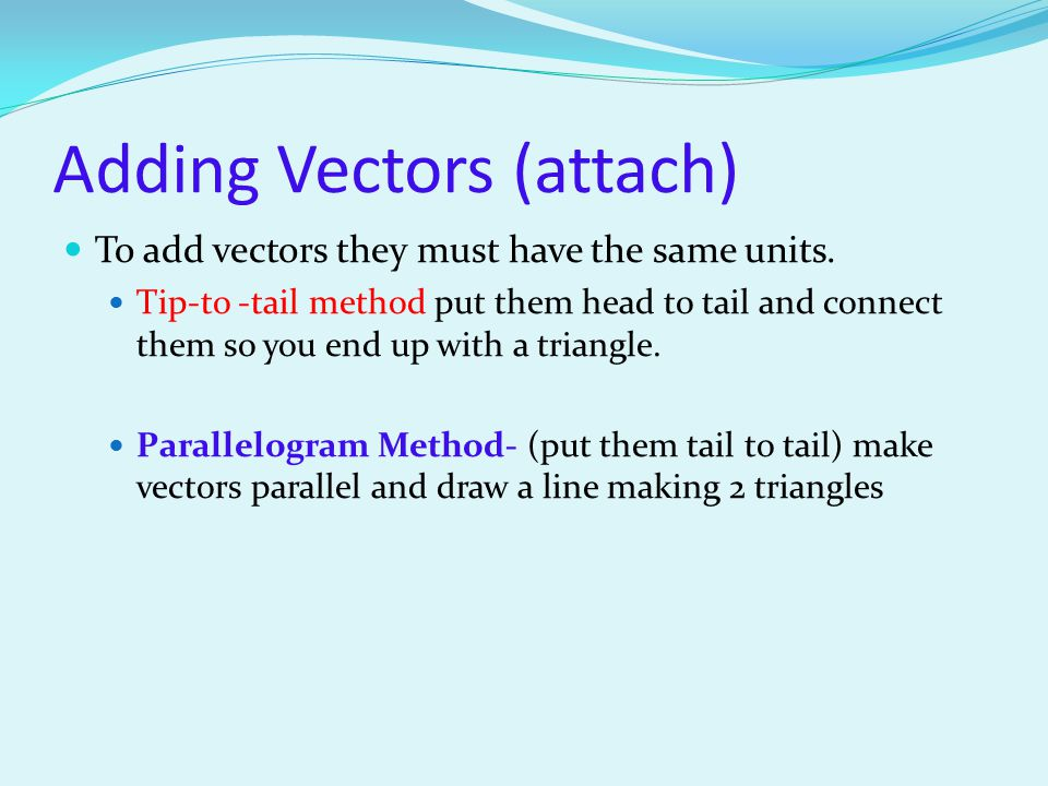 Adding Vectors (attach)