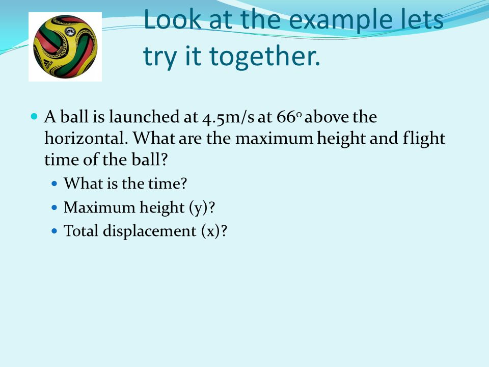 Look at the example lets try it together.
