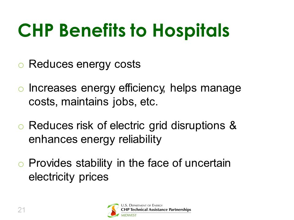 CHP Benefits to Hospitals