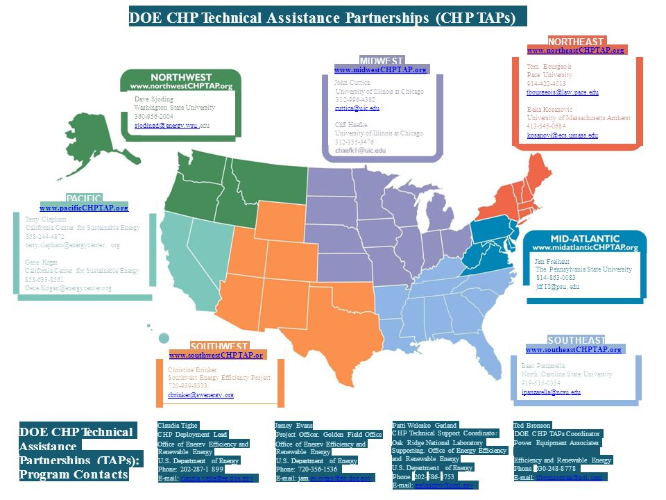 ·­·• DOE CHP Technical Assistance Partnerships (CH P TAPs)