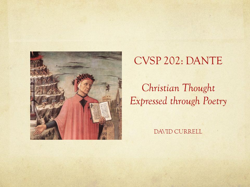 Christian Thought Expressed through Poetry
