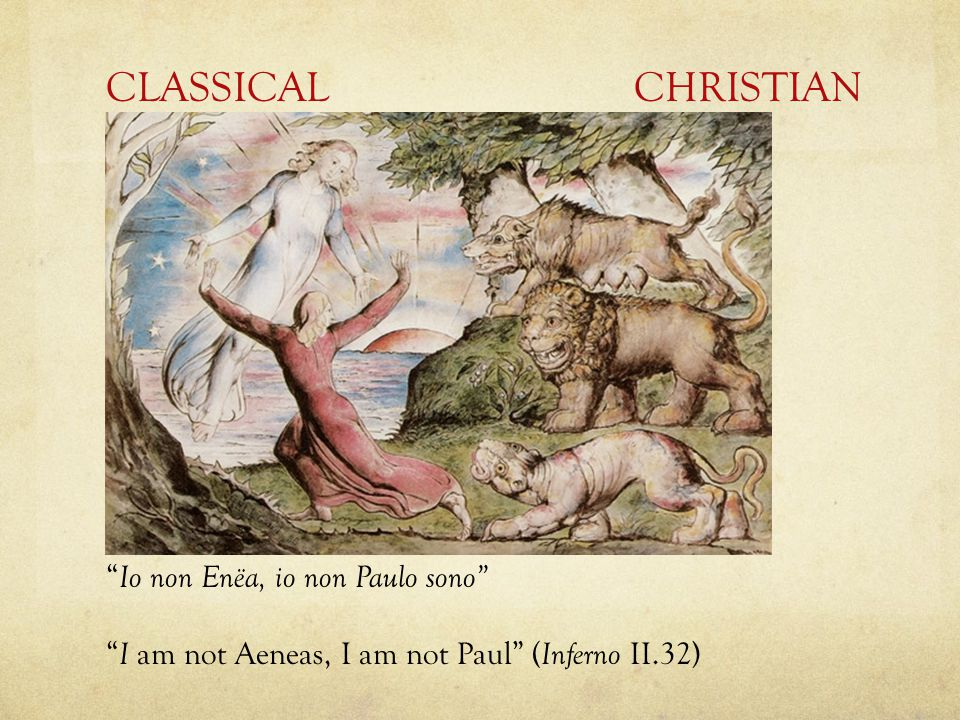 CLASSICAL CHRISTIAN Io non Enëa, io non Paulo sono