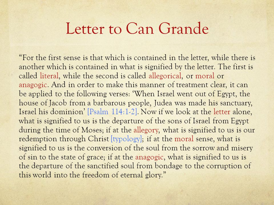 Letter to Can Grande