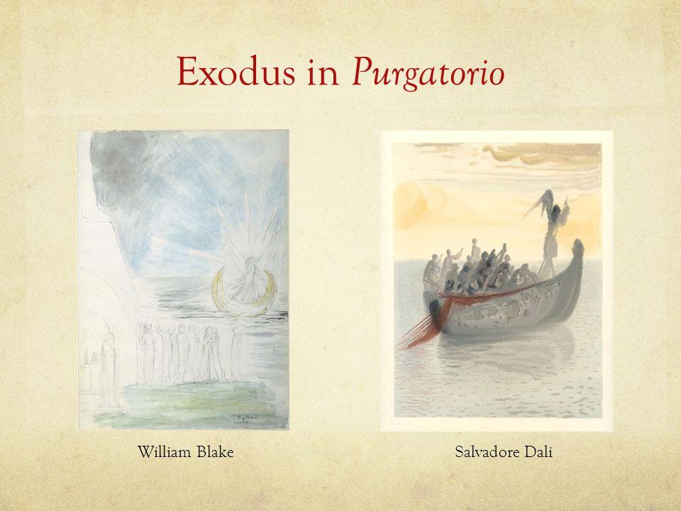 Exodus in Purgatorio William Blake Salvadore Dali