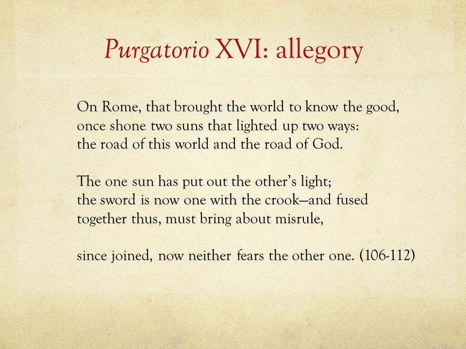 Purgatorio XVI: allegory