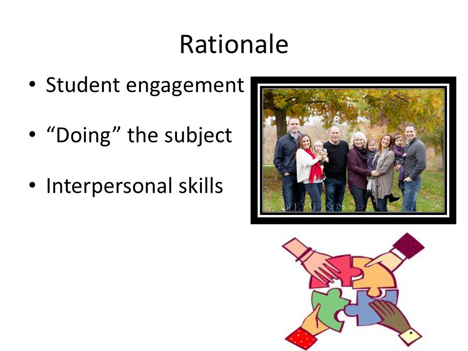 Rationale Student engagement Doing the subject Interpersonal skills